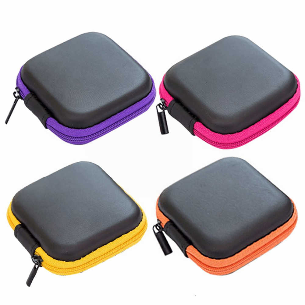5 colour Portable Data Cable Storage Bag Earphone Wire Organizer Case for Headphone Line Headset Closet Organizer Storage Box