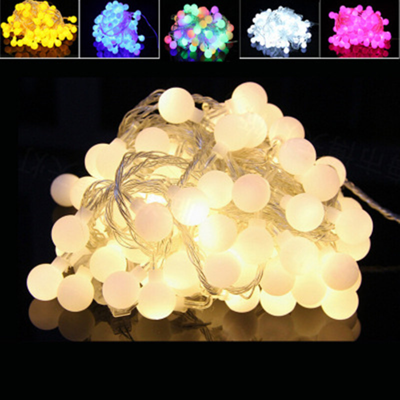 10M-50M Fairy Garland LED Ball String Lights Chrismtas Bulb Fairy String Decorative Lights For Holiday Wedding Party Decoration