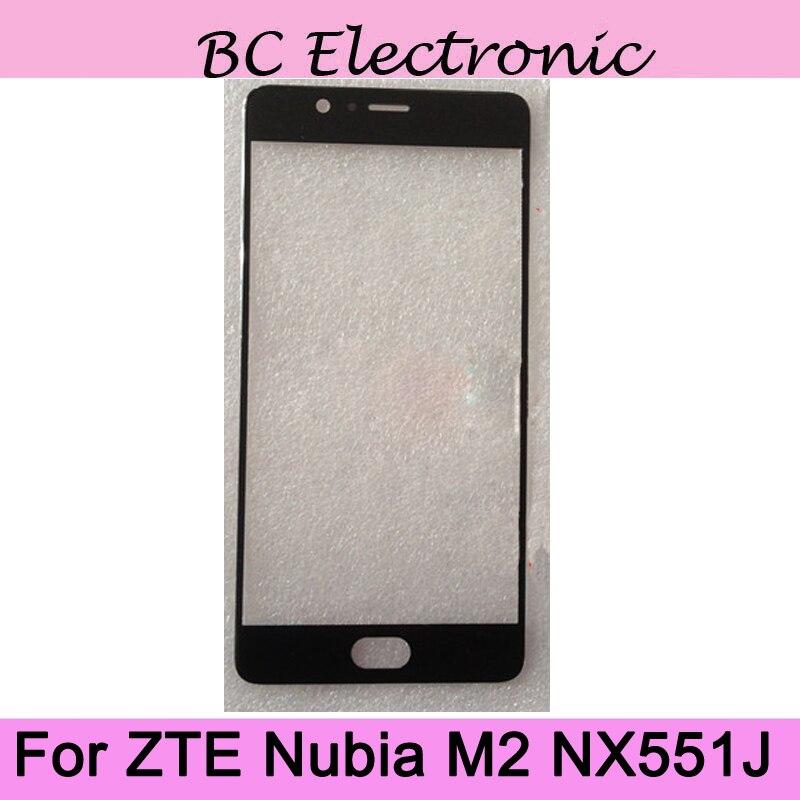 Para ZTE Nubia M2 NX551J Outer Lente de Vidro Para ZTE Nubia M2 NX551J Touchscreen Touch screen Outer Tampa de Vidro Da Tela sem flex