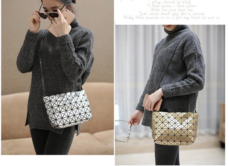 18 Famous Bao Bags Women Geometric Lingge Envelope Handbag Small Chain Clutch Ladies Shoulder Bags Messenger Bag Bao Bolsa 16