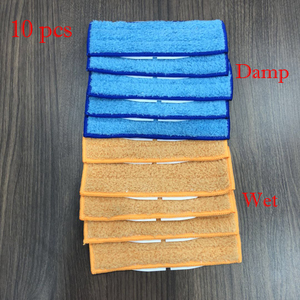 Image 1 - 5 stücke roboter reiniger bürsten ersatzteile Feuchten + 5 stücke Waschbar nass kehr Pad wischen pads für iRobot Braava jet 240 241
