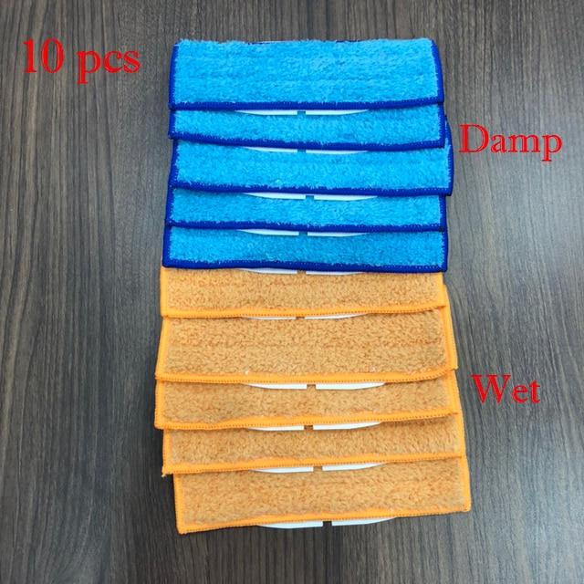 5 stücke roboter reiniger bürsten ersatzteile Feuchten + 5 stücke Waschbar nass kehr Pad wischen pads für iRobot Braava jet 240 241