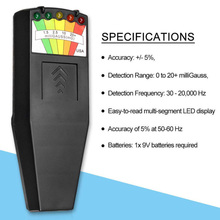 Electromagnetic Field EMF Magnetic Field Detector Portable KII K2 Gauss Meter Ghost Hunting Detector Sensor Equipment LED Light professional field intensity indictor of low frequency emf meter emf828 electromagnetic field tester 0 1 400mg 1 4000mg