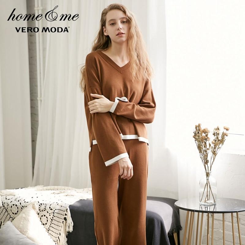 Vero Moda  New Knitted Boot Cut Pants Suit Homewear   3183K6504