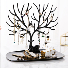 ANFEI Little Deer Earrings Necklace Ring Pendant Bracelet Jewelry Display Stand Tray