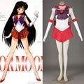 Athemis Anime Sailor Moon Rei Hino/Sailor Mars Cosplay por encargo Del Vestido de Alta Calidad