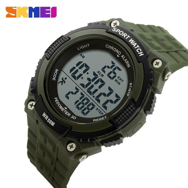 56c25933cca SKMEI Led Digital Mulheres Homens Relógio Relógios Desportivos De Fitness  Rastreador Ajuste Saudável Pedômetro relógios de