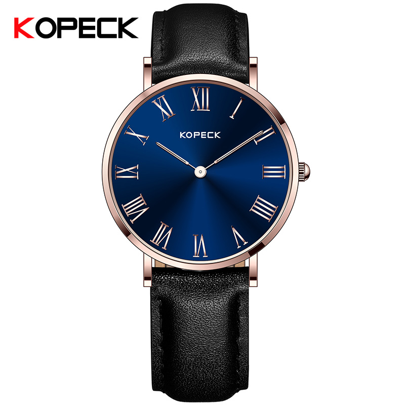 KOPECK Leather Casual Watch Men Luxury Brand Relogio Masculino Sports Watches Quartz Military Sapphire Glass WristWatch Male 2017 oukeshi brand men sports watches luxury leather military watch male quartz wristwatch relogio masculino oks11