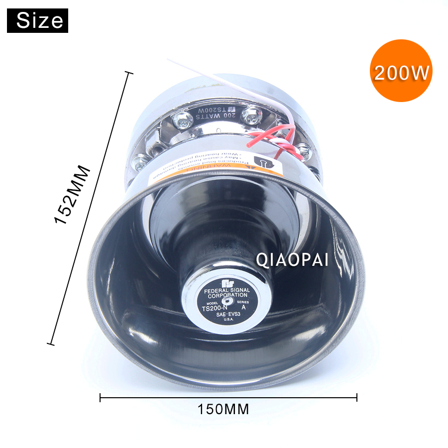 Super Loud Speaker 200W 9 Sound Alarm Megaphone Siren Police Multi tone Warning for 12V Car Truck Train Boat Electric Horn VW in Multi tone Claxon Horns from Automobiles Motorcycles