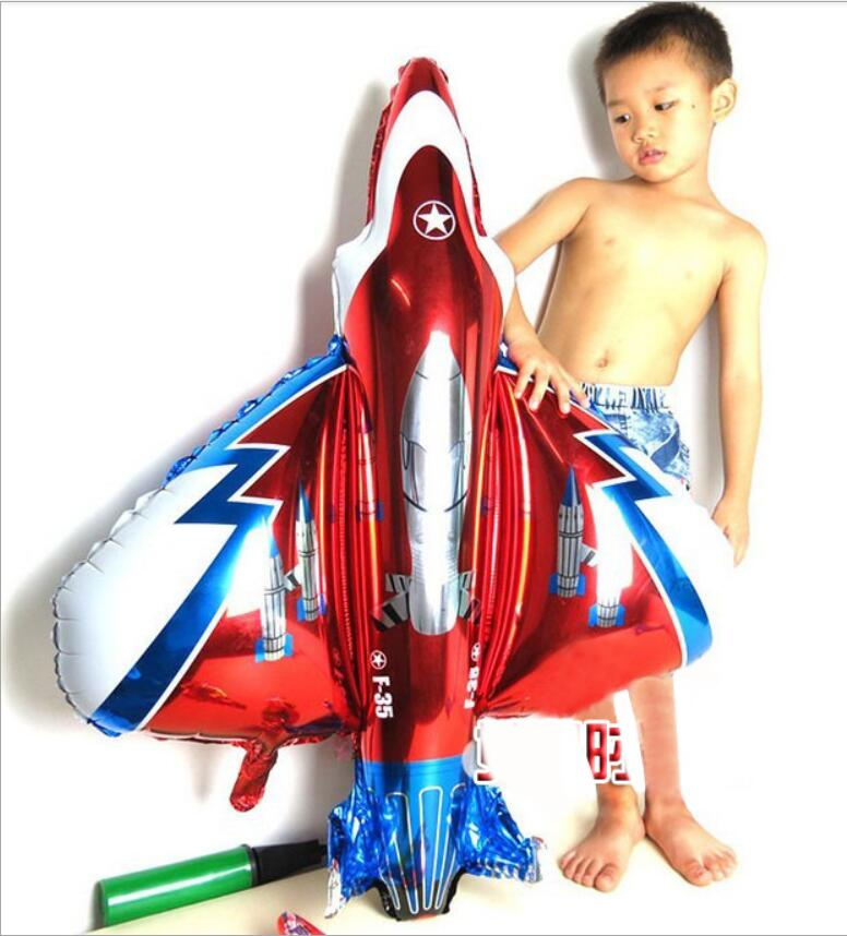 Large Air Passenger Plane Balloon Airbus Planes Large Fighter Aluminum BALLOON Birthday Party Decoration Cartoon Hat