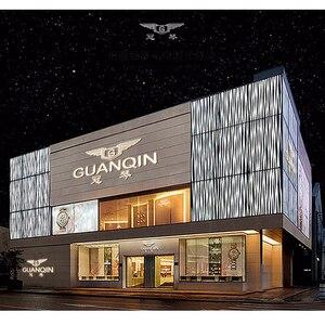 Image 5 - relogio masculino GUANQIN Brand Luxury Watches Men Fashion Creative Chronograph Luminous Analog Retro Leather Strap Quartz Watch