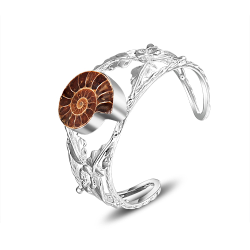 new 2017 brand fashion unique design natural ammonite snail shape 925  bracelets bangles for women B0831