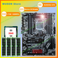 Computer hardware Runing Super ATX X79 gaming PC motherboard with CPU Intel Xeon E5 2640 V2 2.0GHz RAM 4*8G 1600MHz DDR3 RECC