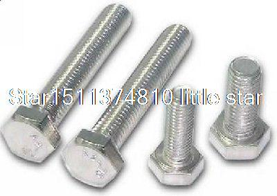 Lot50 Metric Thread M8*50mm Stainless Steel Outside Hex Screw Bolts ar2000 02 smc pneumatic mini air pressure regulator with pressure gauge thread 1 4 inch air treatment units