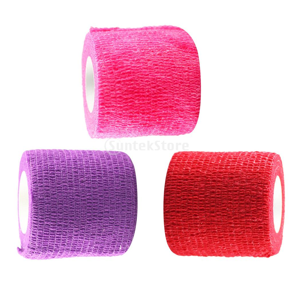 4.5m X 5cm First Aid Medical Sports Injury Ankle Knee Care Flexible Stretch Self-Adhesive Wrap Bandage Tape Pink/Purple/Red