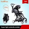 Foofoo choque carrinho de bebê carrinho de criança do guarda-chuva carro luz bebê dobrável portátil absorbers5.8kg guarda-chuva leve carrinho de bebê bebê