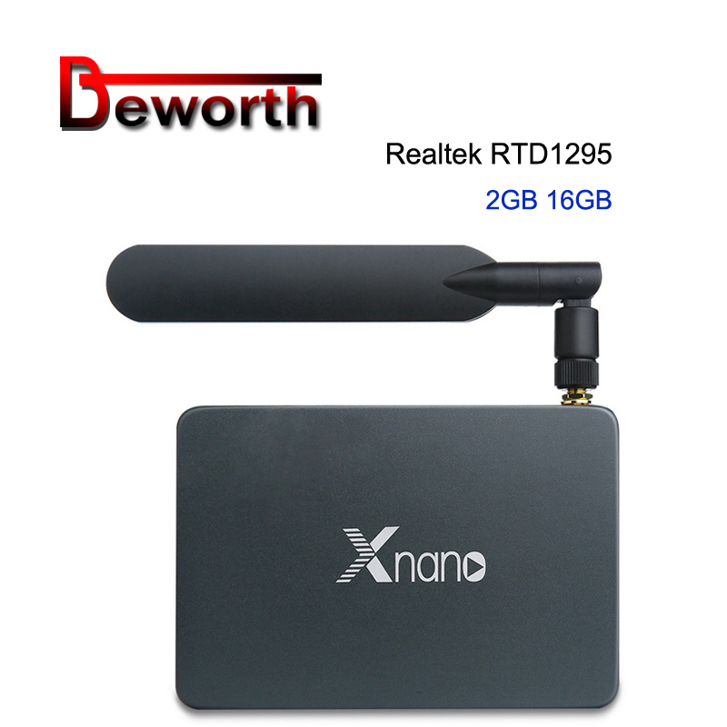 цена на Xnano X5 Android 6.0 TV Box Realtek RTD1295 DDR4 2GB 16GB SATA USB 3.0 5DB External Atenna 2.4/5.8G Dual WiFi 1000M Media Player