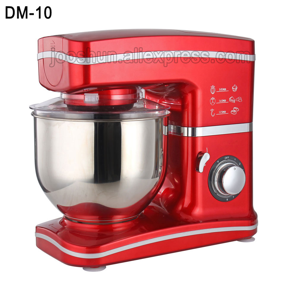 220V Table Electric Food Blender Dough Mixer for Kitchen Multifunctional Cream Butter Cake Egg Beater Mixers With 8 Speed km 8 electric 6l chef home kitchen cooking stand cake food egg machine pasta mixer bread 220v 50 hz 1200 w food mixers