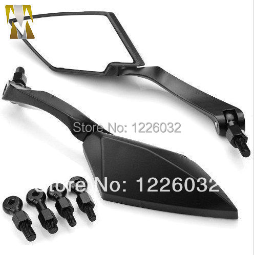 UNIVERSAL REAR VIEW MOTORCYCLE BLACK CUSTOM SIDE MIRRORS FIT FOR ALL