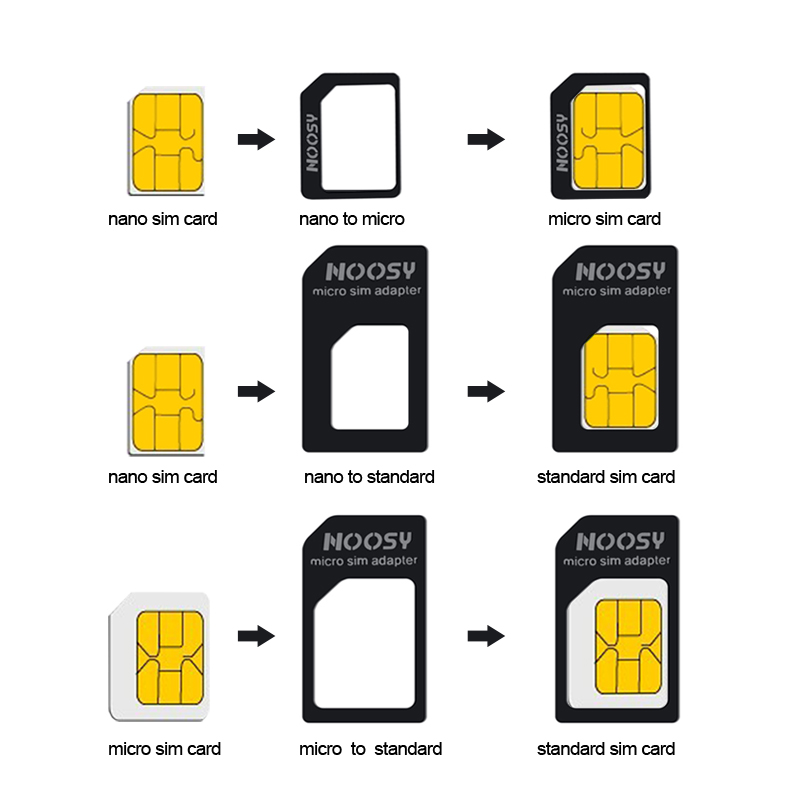 4 In 1 Nano SIM Card Micro SIM Adapters Standard SIM Card Adapter Eject Pin For Iphone 7 8 4S 5 5s 6 6S XS Max XR Mobile Phones