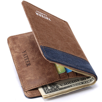 Famous Brand Male Thin Passcard Money Pocket Purses Man Casual Canvas Wallets 2017 New Arrive With