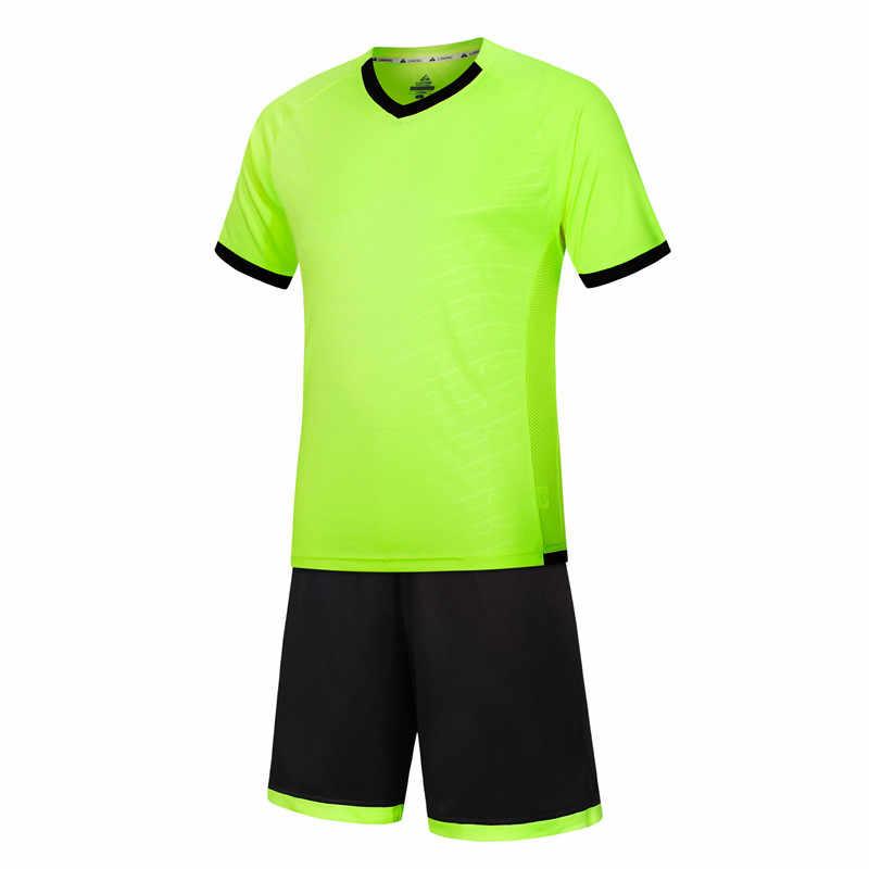 LIDONG New Men Camisas De Futebol 2018 Uniformes De Futebol Crianças voetbal trainingspakken maillot de foot Nome Personalizado Números