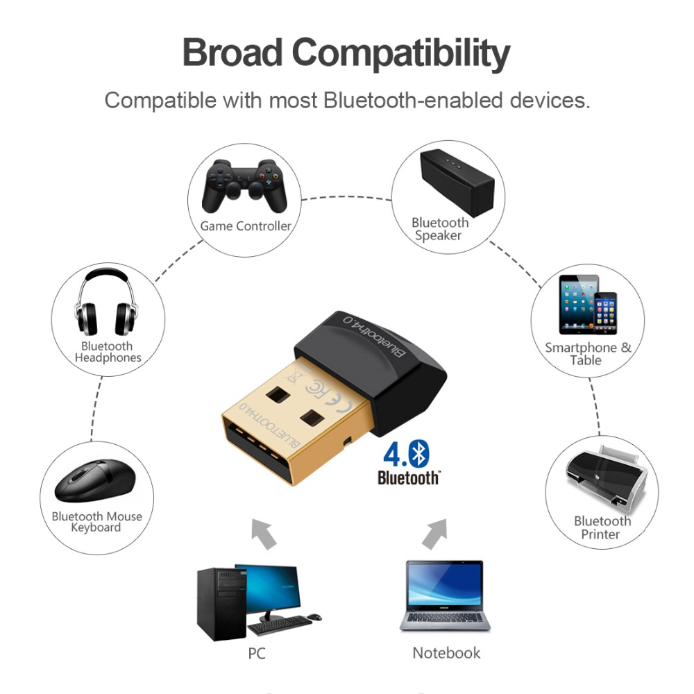 bluetooth adapter v4 0 csr dual mode wireless mini usb. Black Bedroom Furniture Sets. Home Design Ideas