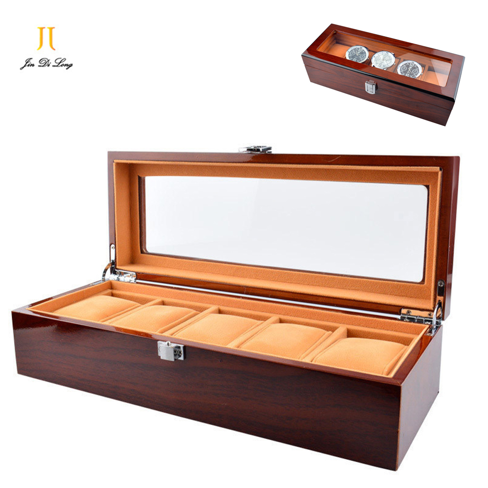5 Grids Solid Wood Watches Storage Box Luxury 12 Grid Boxes For Watch Rosewood Watch Cases Display Packaging Gift Box For Watch jinbei em 35x140 grids soft box
