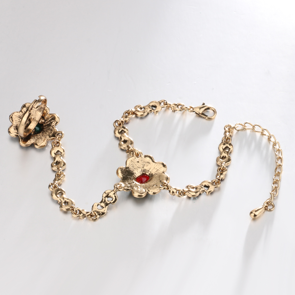 Kinel-Dubai-Jewelry-Sets-Bracelet-Link-Rings-For-Women-Antique-Gold-Color-Colorful-Resin-Crystal-Flower (5)