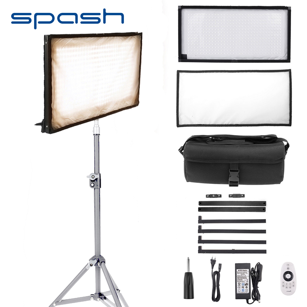 spash FL 3060A LED Video Light 85W 448 Beads 3200 5500K Bi color Photography Lighting LED
