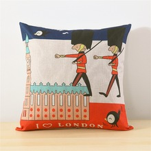 45*45cm europe Retro cotton linen home decorative pillow cartoon fashion pattern chair sofa bed back cushion throw pillow цены