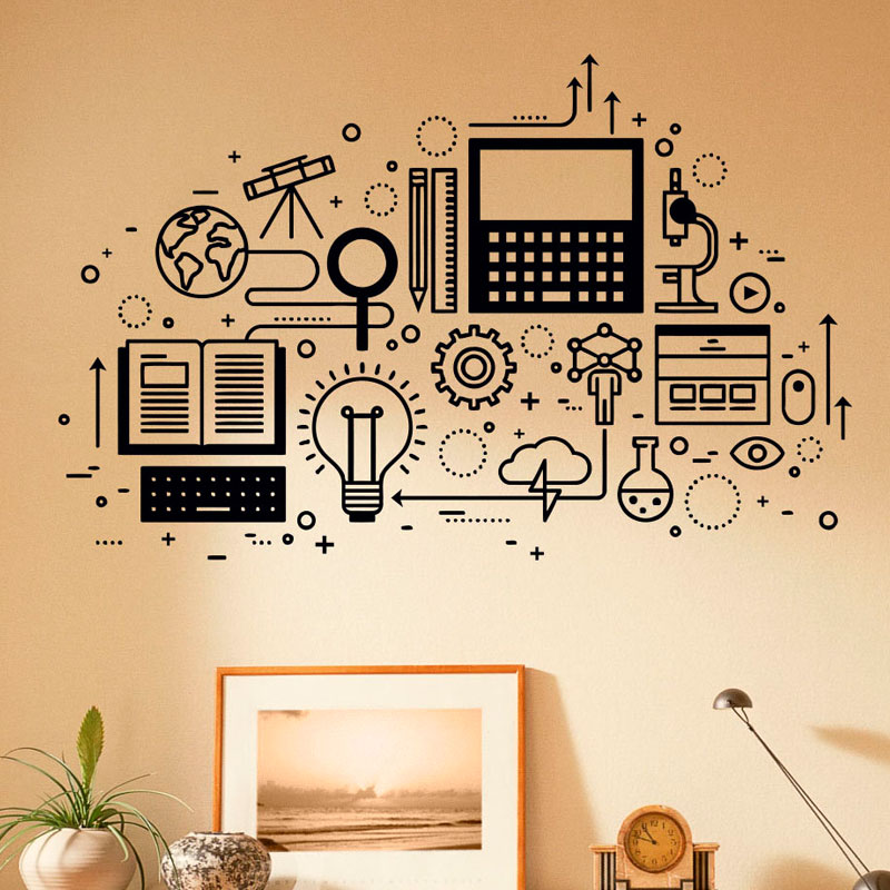 computer technology wall decal vinyl sticker science education home