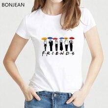 Friends Tshirt harajuku letters tee shirt femme best friends tv show gift t women top female t-shirt graphic tees