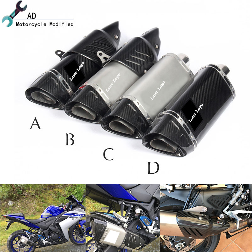 For Yamaha FZ6 YZF R3 R1 R6 Moto Parts 51 MM Exhaust Pipe Cover Muffler R11 R15 R25 R125 Killer Motorcycle Accessories Escape цена