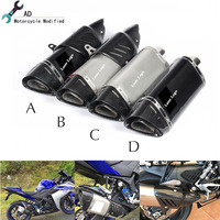 For Yamaha FZ6 YZF R3 R1 R6 Moto Parts 51 MM Exhaust Pipe Cover Muffler R11 R15 R25 R125 Killer Motorcycle Accessories Escape