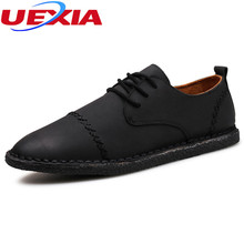 Suede Leathe Fashion Casual Male Shoes Breathable Men Shoes Slip On Leather Sewing Driving Loafers Walking Oxfords Work Shoes