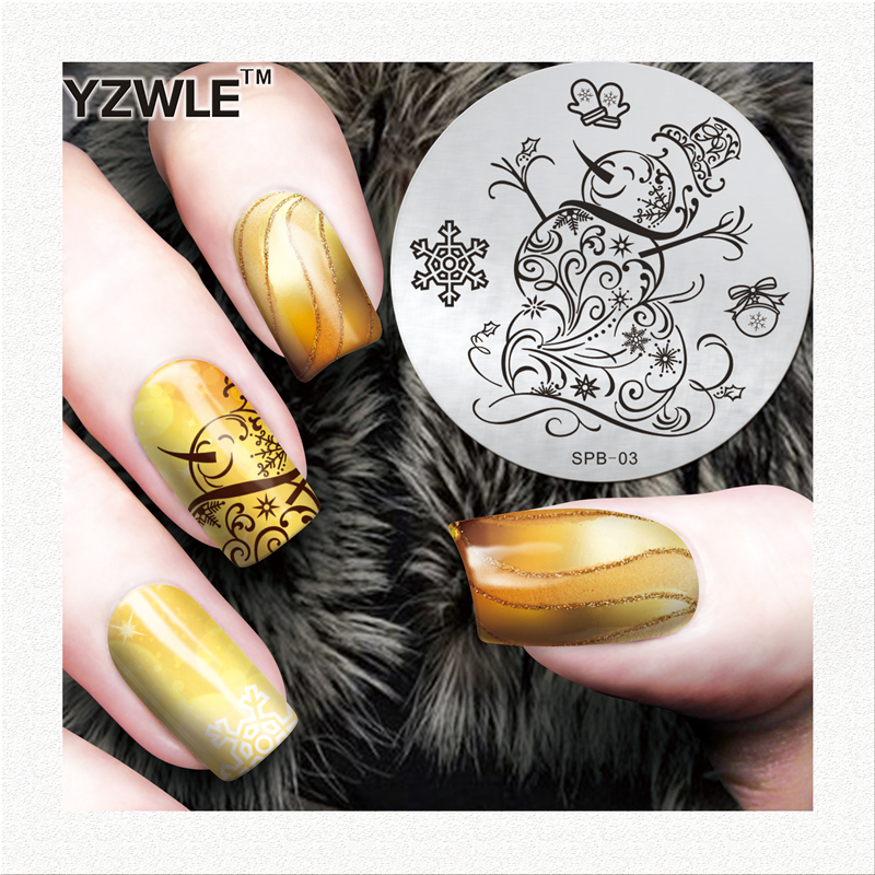 YZWLE best deal metal template stamping nail art plates with low price