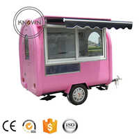Factory sale outdoor food cart and street food kiosk and coffee carts mobile food trailer