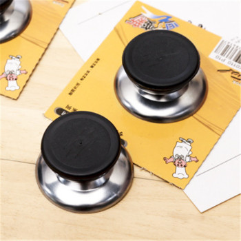 1PCS New Kitchen Appliance Knob Cover Glass Kitchen Pot Lid Top Handle Stainless Steel+Plastic Knob For Cooking Tools