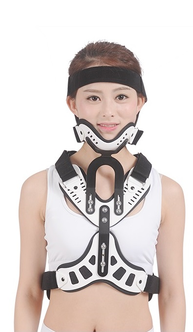 Head And Neck Orthoses Postoperative Head And Neck Fixation Cervical Rehabilitation Brace Adult Neck Care With A Screwdriver adjustable knee support joint brace apparatus kneepad fixed frame postoperative hard knee ligament fixation recovery