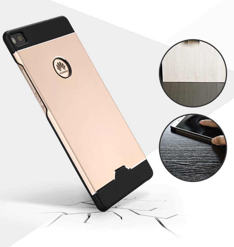 Original AIXUAN For Huawei P8 Case Slim Aluminum Metal PC Cover Case For Huawei Ascend P8