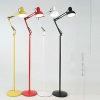 American Adjustable Floor Lamp Metal Sconces E27 LED Bedroom Study Living Room Indoor Industrial Floor Lamp Light AC110 220V