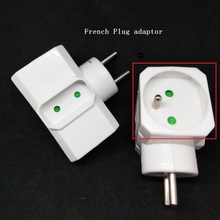 16A Power Adapter Socket 1 tot 3 Franse plug converter Elektrische Plug Wit Uitgebreide socket