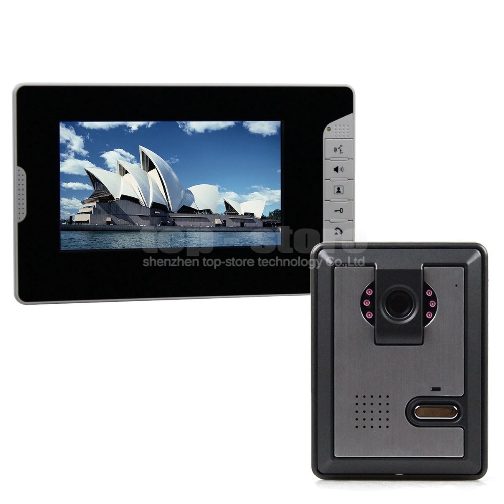 DIYSECUR 7 inch Wired Color Video Door Phone Intercom Home Security ...