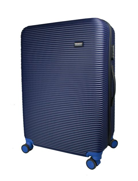 [Available from 10.11]  large suitcase PROFFI TRAVEL PH8860navy, L, plastic, blue, with combination lock
