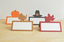 Thanksgiving Turkey – Pumpkin – Leaf – Fall tent place cards