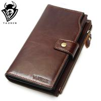 New Europe Brand Wallet Long Creative Unisex Card Holder Casual Zip Ladies Clutch Genuine Leather Cluch