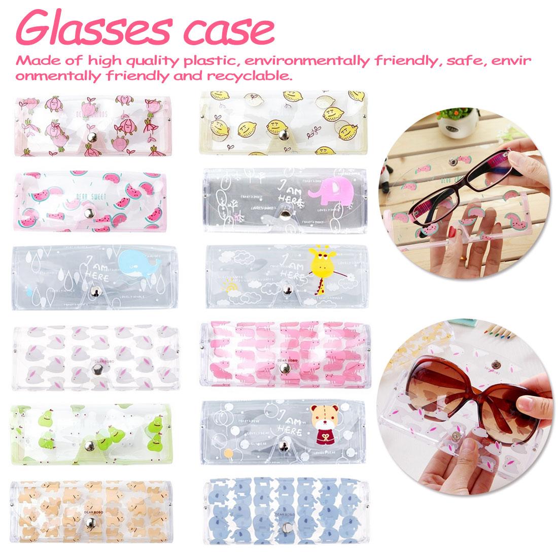 Korean Style Cute Transparent Glasses Case Cartoon Animal Rabbit Dogs Women Girls Glasses Box Fresh Design Lovely Eye Wear