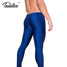 Taddlee Brand Sports Running Pants Men Sexy Long Tight High Stretch Bottoms Men's Active Jogger Pants Gay Men's Workout Legging