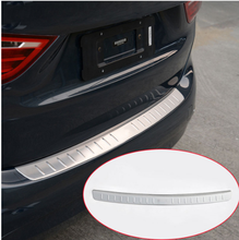 304 Stainless Steel Outside Rear Bumper Protector Trunk Plate Guard For BMW 2 Series 5 and 7 Seats Active Tourer 218i F45 F46 rear bumper skid protector guard plate stainless steel for bmw x6 f16 2015
